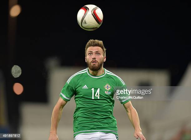 Stuart Dallas of Northern Ireland during the Euro 2016 Group F international football match against Greece at Windsor Park on October 8 2015 in...