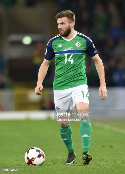 Stuart Dallas of Northern Ireland during the FIFA 2018 World Cup Qualifier between Northern Ireland and Norway at Windsor Park on March 26 2017 in...