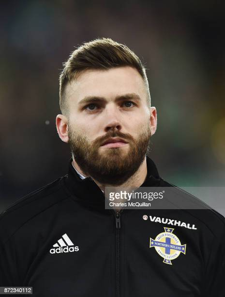 Stuart Dallas of Northern Ireland during the FIFA 2018 World Cup Qualifier PlayOff first leg between Northern Ireland and Switzerland at Windsor Park...