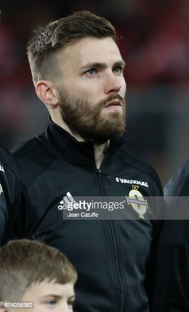 Stuart Dallas of Northern Ireland during the FIFA 2018 World Cup Qualifier PlayOff Second Leg between Switzerland and Northern Ireland at St...