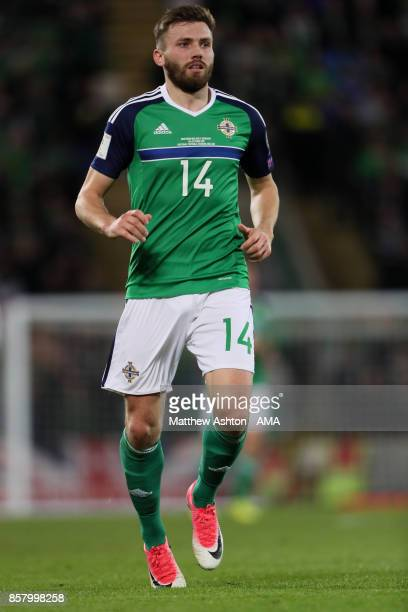 Stuart Dallas of Northern Ireland in action during the FIFA 2018 World Cup Qualifier between Northern Ireland and Germany at Windsor Park on October...