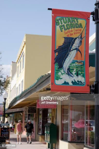 Stuart Florida banner on Flagler Avenue.
