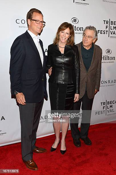 Stuart Foster Jane Rosenthal and Robert De Niro attend the TFF Awards Night during the 2013 Tribeca Film Festival on April 25 2013 in New York City