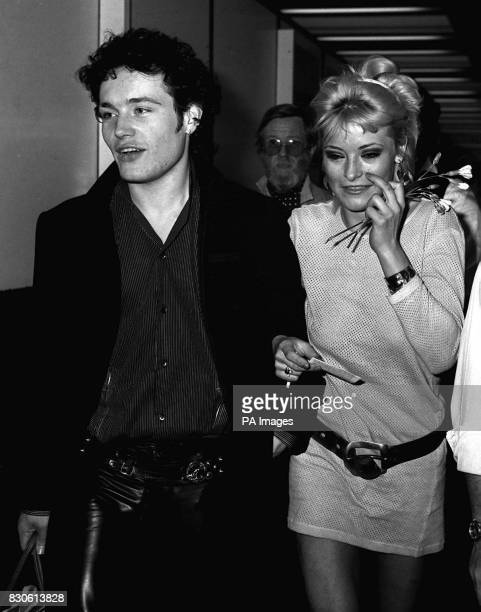 Stuart Goddard better known to his fans as Adam of 'Adam and the Ants' at Heathrow Airport when the group left for New York at the start of a world...