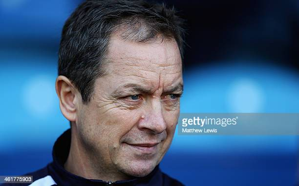 Stuart Gray manager of Sheffield Wednesday looks on during the Sky Bet Championship match between Sheffield Wednesday and Leeds United at...