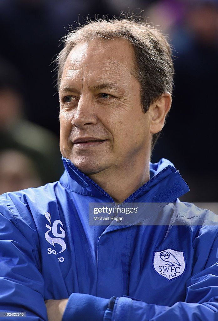 Stuart Gray of Sheffield Wednesday looks on during the Sky Bet Championship match between Sheffield Wednesday and Birmingham City at Hillsborough Stadium on January 27, 2015 in Sheffield, England.