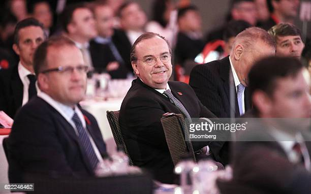 Stuart Gulliver chief executive officer of HSBC Holdings Plc center attends the HSBC AustraliaChina conference in Sydney Australia on Friday Nov 11...