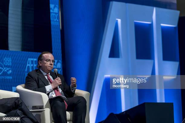 Stuart Gulliver outgoing chief executive officer of HSBC Holdings Plc speaks during the Hong Kong Asian Financial Forum in Hong Kong China on Monday...