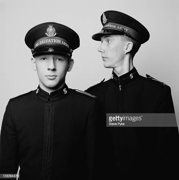 Stuart Higgins and Mark Woodlock two young officers of the Salvation Army in Leicester 4th February 1990