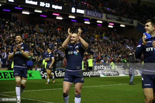 Stuart Hogg of Scotland after the NatWest Six Nations Championship between Scotland and England at Murrayfield on February 24 2018 in Edinburgh...