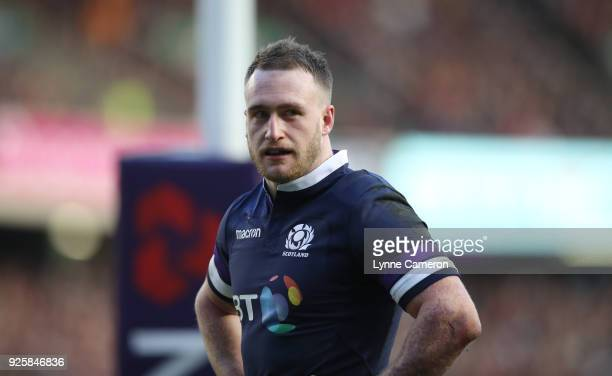 Stuart Hogg of Scotland during the NatWest Six Nations Championship between Scotland and England at Murrayfield on February 24 2018 in Edinburgh...