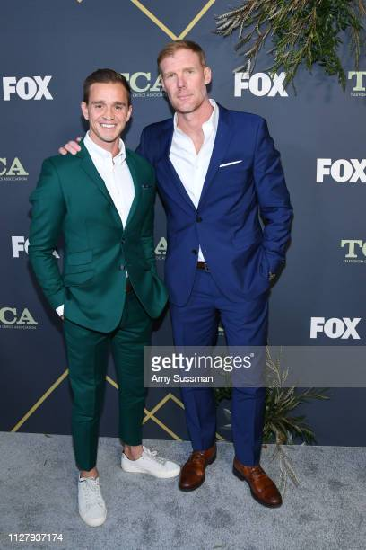 Stuart Holden and Alexi Lalas attend the Fox Winter TCA at The Fig House on February 06 2019 in Los Angeles California
