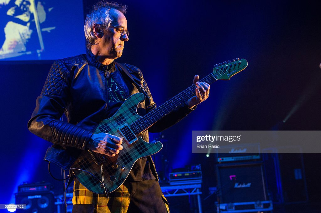 Stuart John Wood of The Bay City Rollers performs at Eventim Apollo on December 14, 2016 in London, England.