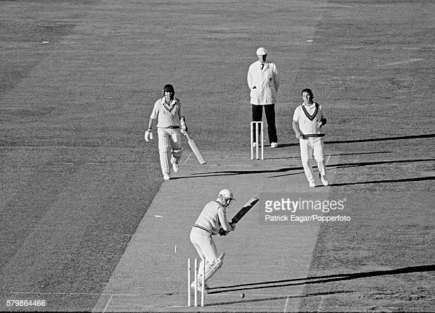Stuart Lampitt of Worcestershire is bowled by Ian Austin of Lancashire to give Lancashire victory in the Benson and Hedges Cup Final between...