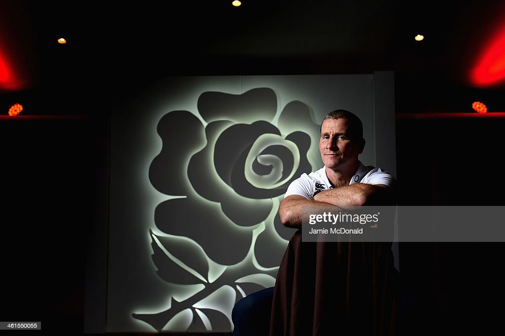 Stuart Lancaster, head coach of the England rugby team poses for a portrait during an England squad announcement at Twickenham stadium on January 9, 2014 in London, England.