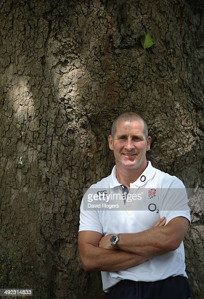 Stuart Lancaster the England head coach looks on during the England media session held at the Lensbury Club on May 19 2014 in Teddington England