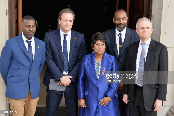 Stuart Lawrence Doreen Lawrence Baroness Lawrence of Clarendon and Sir Lenny Henry attend the 25th Anniversary Memorial Service to celebrate the life...