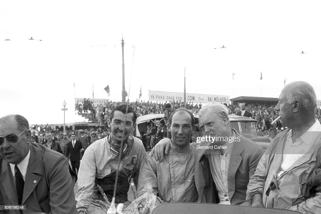 Stuart Lewis Evans, Stirling Moss, Mike Hawthorn, Grand Prix Of Portugal : News Photo