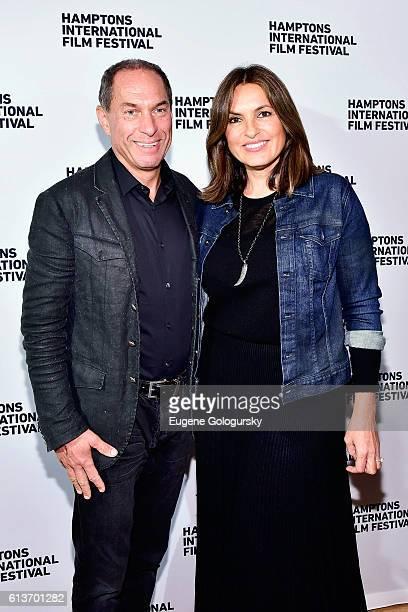 Stuart Match Suna and Mariska Hargitay attend the Awards Dinner at the Hamptons International Film Festival 2016 at Topping Rose on October 9 2016 in...
