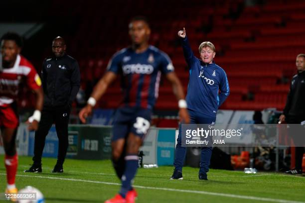 Stuart McCall the Manager / Head Coach of Bradford City during the EFL Trophy match between Doncaster Rovers v Bradford City at Keepmoat Stadium on...