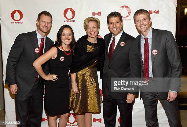 Stuart McWhorter Jenna Nardell Ambassador Deborah L Birx Scott Morris and Porter Delaney attend the BloodWater 4th Annual Red Tie Gala to help fight...