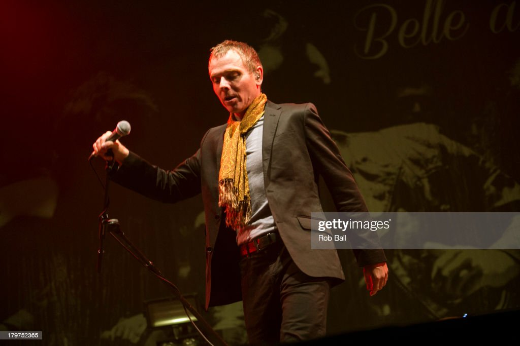 Stuart Murdoch from Belle and Sebastian performs at Day 2 of Bestival at Robin Hill Country Park on September 6, 2013 in Newport, Isle of Wight.