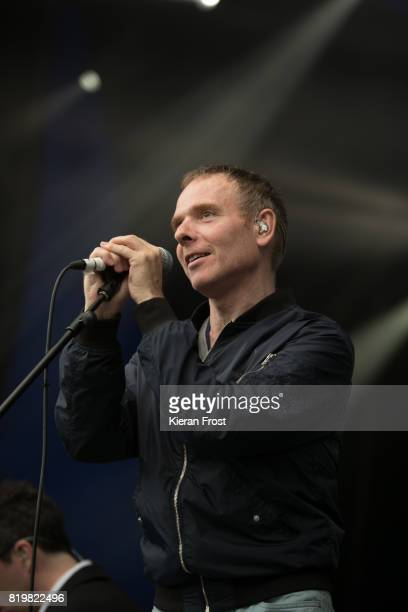 Stuart Murdoch of Belle and Sebastian performs at Iveagh Gardens on July 20 2017 in Dublin Ireland