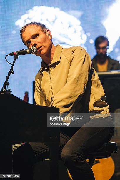 Stuart Murdoch of Belle and Sebastian performs on the main stage during day 3 of Festival No 6 on September 5, 2015 in Portmeirion, Wales.