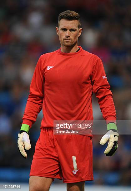 Stuart Nelson of Gillingham during the pre season friendly match between Gillingham and Crystal Palace at Priestfield Stadium on July 23 2013 in...