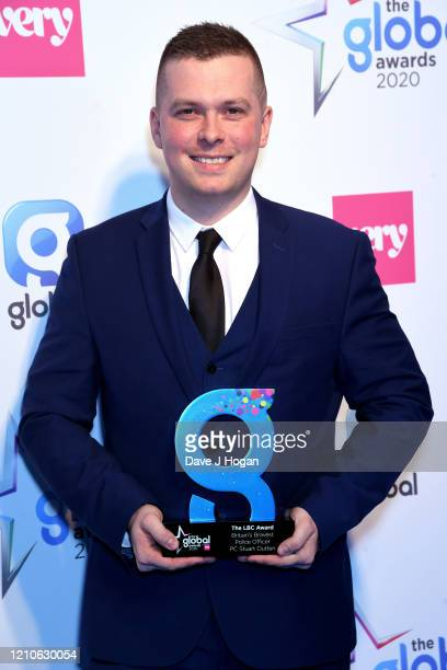 Stuart Outten with LBD Award during The Global Awards 2020 at Eventim Apollo Hammersmith on March 05 2020 in London England