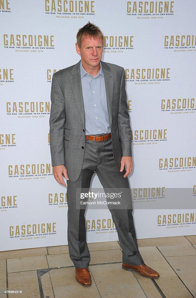 Stuart Pearce attends the Premiere of 'Gascoigne' at Ritzy Brixton on June 8, 2015 in London, England.