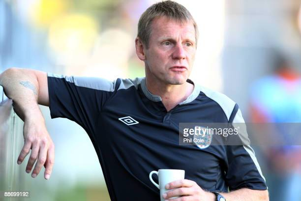 Stuart Pearce, Manager of England U21, looks on during the UEFA U21 European Championships Semi-Final match between England and Sweden at the Gamia...