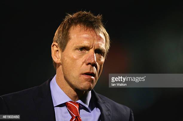 Stuart Pearce manager of Nottingham Forest looks on prior to the Sky Bet Championship match between Fulham and Nottingham Forest at Craven Cottage on...