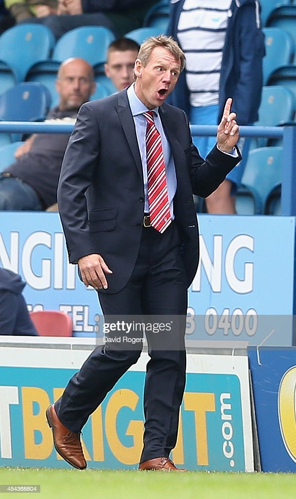 Stuart Pearce, the Nottingham Forest manager, makes a point to the fourth official during the Sky Bet Championship match between Sheffield Wednesday and Nottingham Forest at Hillsborough Stadium on August 30, 2014 in Sheffield, England.