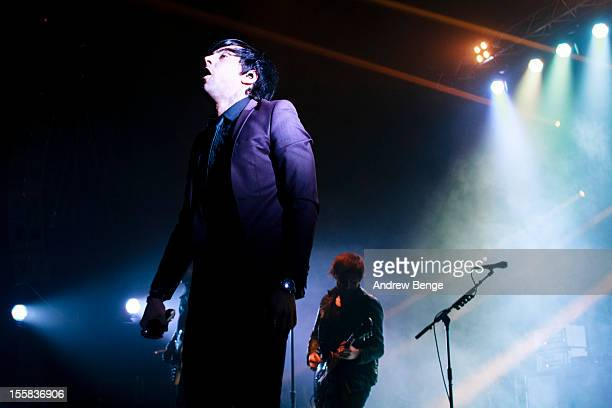 Stuart Richardson and Ian Watkins of Lostprophets performs at Manchester Apollo on November 8 2012 in Manchester England