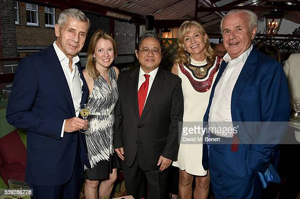 Stuart Rose guest Victor Fung Lady Alison Myners and Lord Paul Myners attend the Fung LCM Dinner at MarkÕs Club on June 10 2016 in London England