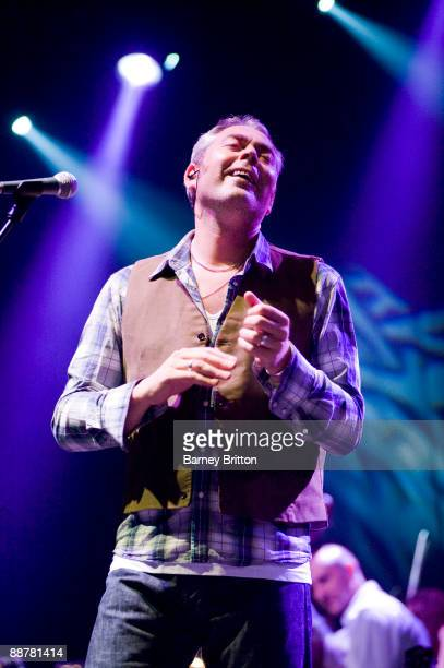 Stuart Staples of Tindersticks performs on stage as part of the Serpentine Sessions at Hyde Park on July 1 2009 in London England