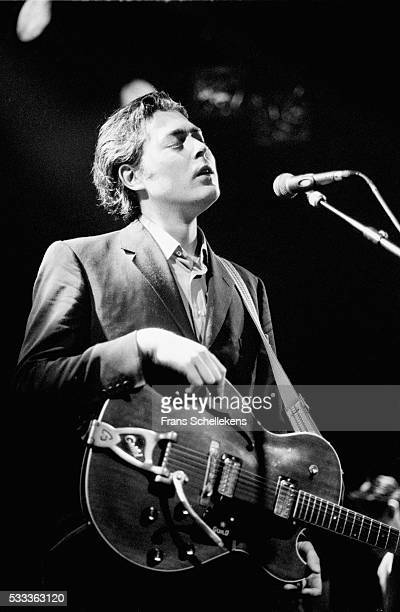 Stuart Staples, vocals and guitar, performs with TINDERSTICKS, on May 14th 1995 at the Melkweg in Amsterdam, the Netherlands.