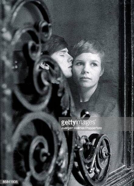 Stuart Sutcliffe of the Beatles with Astrid Kirchherr in Hamburg Germany in April 1961