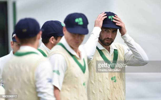 Stuart Thompson of Ireland during the fifth day of the international test cricket match between Ireland and Pakistan on May 15 2018 in Malahide...