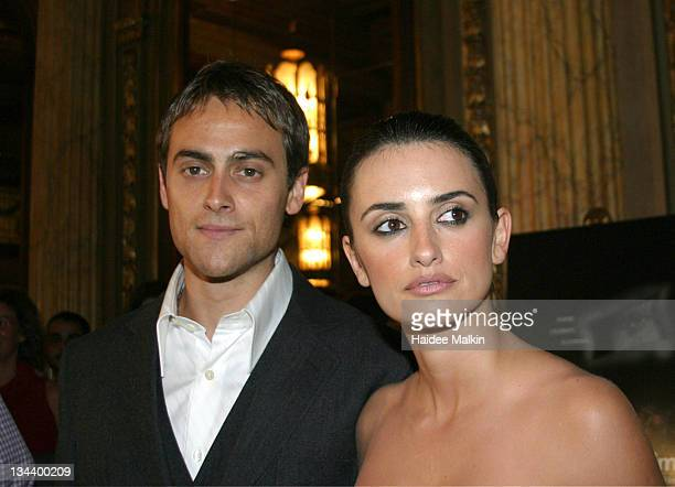 Stuart Townsend and Penelope Cruz during 2004 Toronto International Film Festival Head in the Clouds Premiere Afterparty at Elgin Theatre in Toronto...