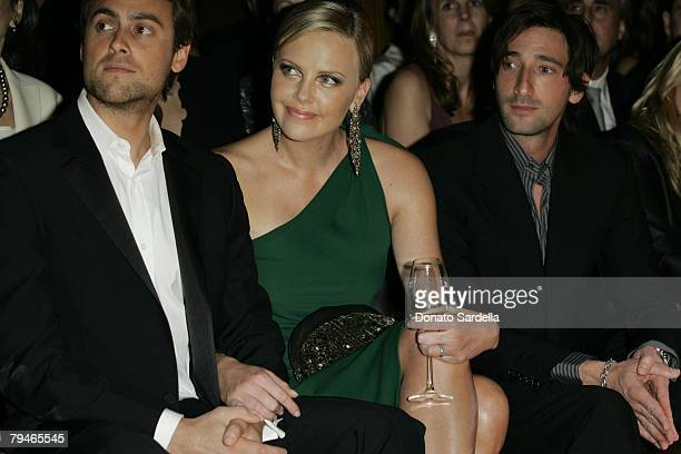 Stuart Townsend Charlize Theron and Adrien Brody
