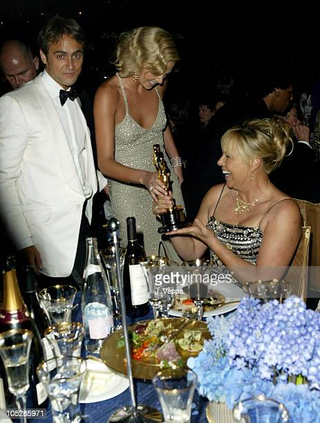 Stuart Townsend Charlize Theron and her mother Gerda