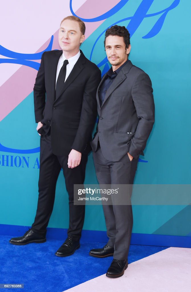 Stuart Vevers and James Franco attend the 2017 CFDA Fashion Awards at Hammerstein Ballroom on June 5, 2017 in New York City.