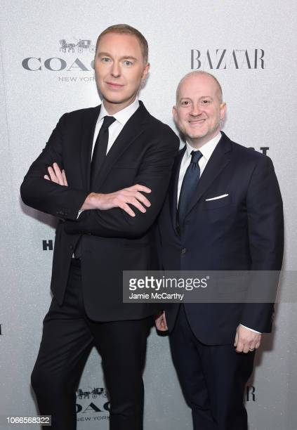 Stuart Vevers and Joshua Schulman attend the Lincoln Center Fashion Gala - An Evening Honoring Coach at Lincoln Center Theater on November 29, 2018...