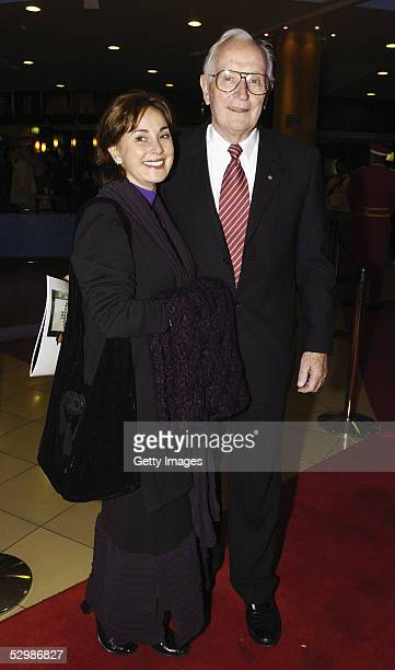 Stuart Wagstaff and Peta Toppano walk the red carpet for the opening night of The Producers at The Lyric Theatre Star City Casino May 26 2005 in...