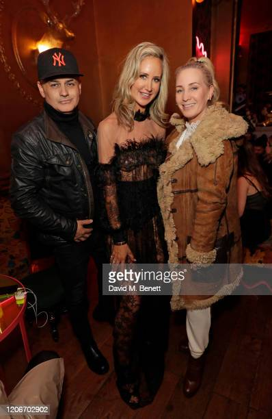 Stuart Watts Lady Victoria Hervey and Suzie Turner attend the launch of Lady Victoria Hervey and Scott Henshall's new brand 'Hervey Henshall' during...