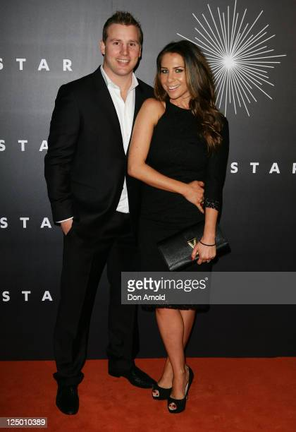 Stuart Webb and Kate Ritchie arrive at the opening of 'The Star' formerly Star City in Pyrmont on September 15 2011 in Sydney Australia The...