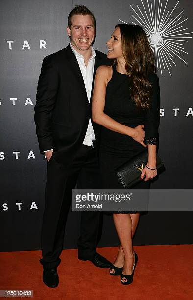 """Stuart Webb and Kate Ritchie arrive at the opening of """"The Star"""", formerly Star City in Pyrmont on September 15, 2011 in Sydney, Australia. The..."""