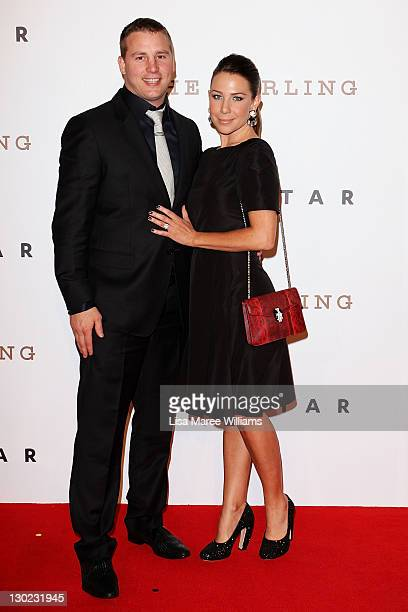 Stuart Webb and Kate Ritchie arrive at The Star Opening Party on October 25 2011 in Sydney Australia